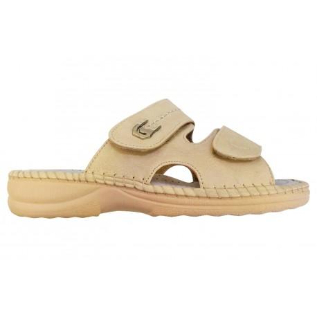 Dámské pantofle Koka béžové, Boty 42 Koka