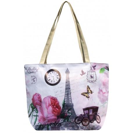 Látková taška s vintage potiskem - růžová, Barva Mix