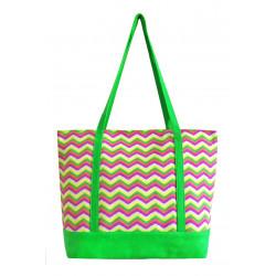 Zelená látková taška Cik Cak