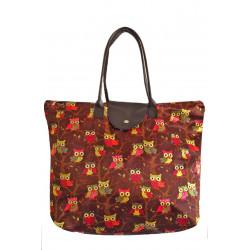 Látková taška se sovičkami