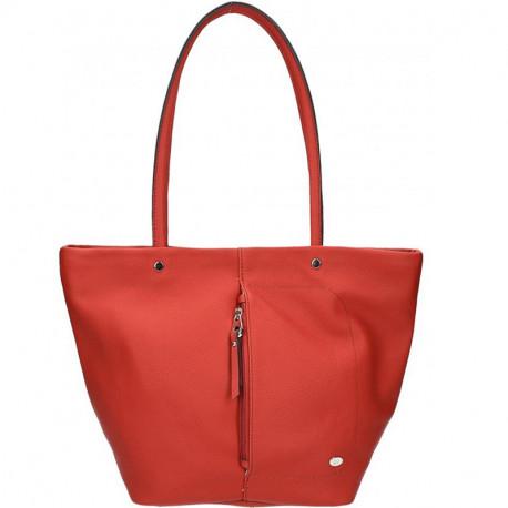 Dámská kabelka David Jones cm3000 - červená, Barva Červená David Jones