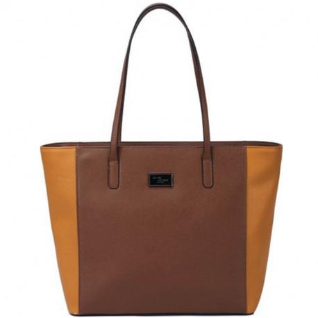 Elegantní dámská kabelka David Jones cm2704-4 - světle hnědá a9bf7190dcd