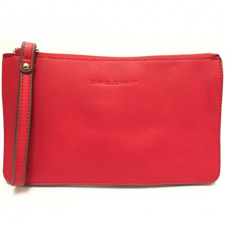 Dámská crossbody kabelka David Jones cm3056 - červená, Barva Červená David Jones
