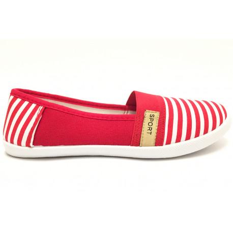 Dámské balerínky Samlux - červené 0bd91541f2