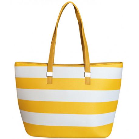 Pruhovaná kabelka David Jones - žlutá, Barva Žlutá David Jones