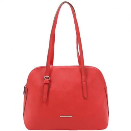 Elegantní dámská kabelka David Jones 5057-1 - červená, Barva Červená David Jones