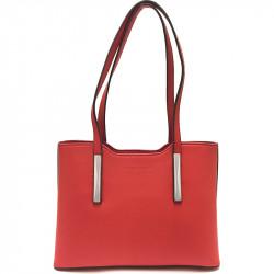 Elegantní dámská kabelka David Jones 5251-1 - červená