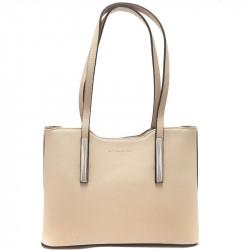 Elegantní dámská kabelka David Jones 5251-1 - béžová