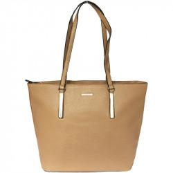 Elegantní dámská kabelka David Jones 5200-5 - hnědá