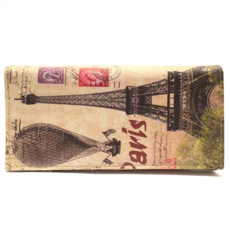 Barevná peněženka s motivem Eiffelovky 2 - béžová, Barva Béžová Kutti