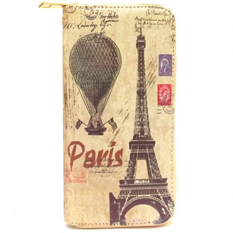 Barevná peněženka s motivem Eiffelovky - béžová, Barva Béžová Kutti