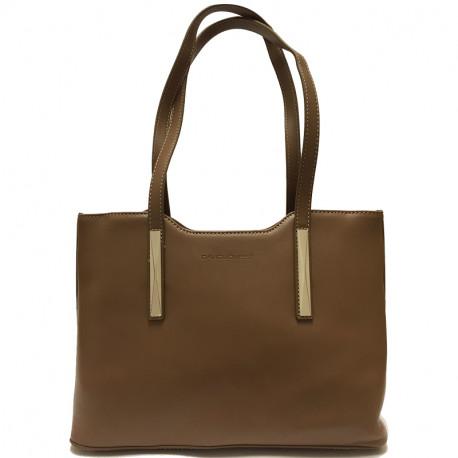 Elegantní dámská kabelka David Jones 5621-1 - hnědá