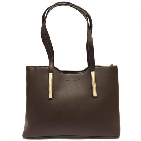 Elegantní dámská kabelka David Jones 5251-1 - hnědá