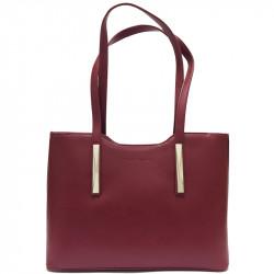 Elegantní dámská kabelka David Jones 5251-1 - vínová
