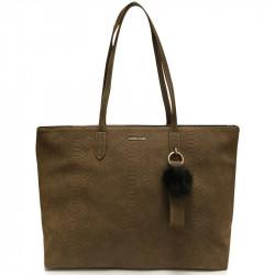 Elegantní dámská kabelka David Jones cm3538 - hnědá