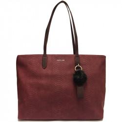 Elegantní dámská kabelka David Jones cm3538 - vínová