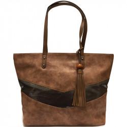 Elegantní dámská kabelka David Jones 5650-3 - tmavě hnědá