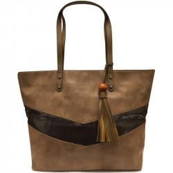 Elegantní dámská kabelka David Jones 5650-3 - hnědá