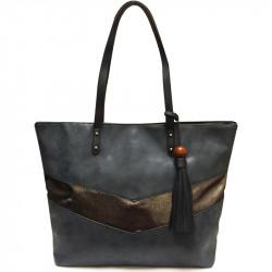 Elegantní dámská kabelka David Jones 5650-3 - modrá