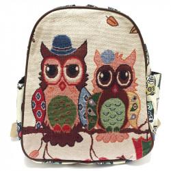 Dámský nebo dětský batoh se sovičkami - mix
