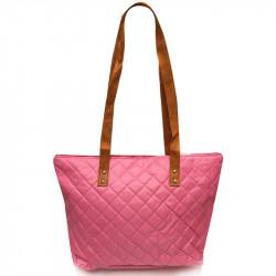 Prošívaná taška - růžová