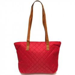 Prošívaná taška - červená