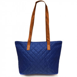 Prošívaná taška - modrá