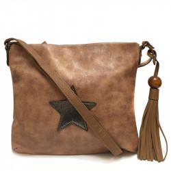 Dámská crossbody kabelka David Jones 5649-2 - tmavě hnědá