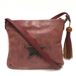 Dámská crossbody kabelka David Jones 5649-2 - vínová
