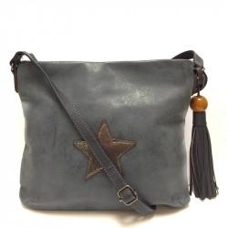 Dámská crossbody kabelka David Jones 5649-2 - modrá