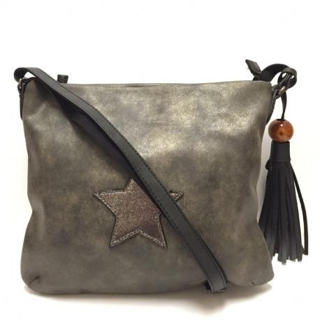 Dámská crossbody kabelka David Jones 5649-2 - černá