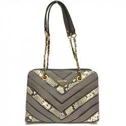 Elegantní dámská kabelka David Jones 5557-2 - šedá