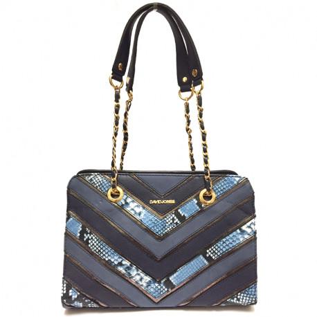 Elegantní dámská kabelka David Jones 5202-2 - modrá 9683bcf895b