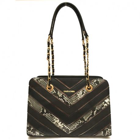 Elegantní dámská kabelka David Jones 5202-2 - černá