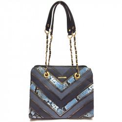Elegantní dámská kabelka David Jones 5202-2 - modrá