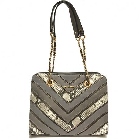 Elegantní dámská kabelka David Jones 5202-3 - šedá