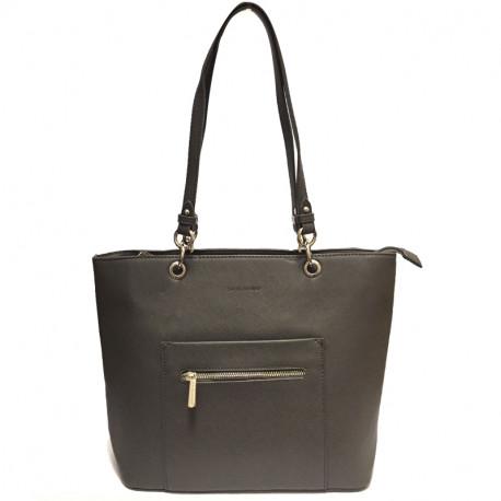 Elegantní dámská kabelka David Jones cm3560 - šedá