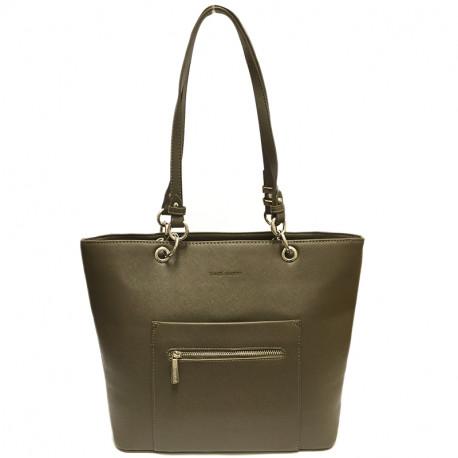 Elegantní dámská kabelka David Jones cm3560 - hnědá