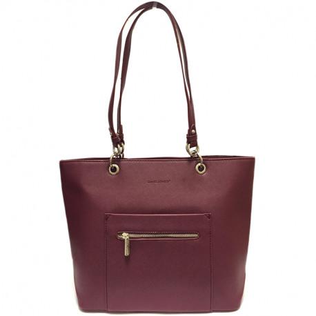 Elegantní dámská kabelka David Jones cm3560 - vínová