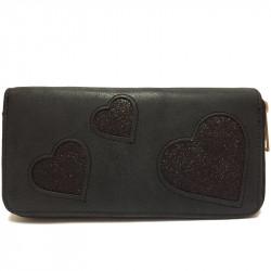 Dámská peněženka z eko kůže - černá