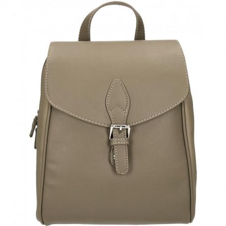 Elegantní městský dámský batoh David Jones cm3615 - khaki, Barva Hnědá David Jones