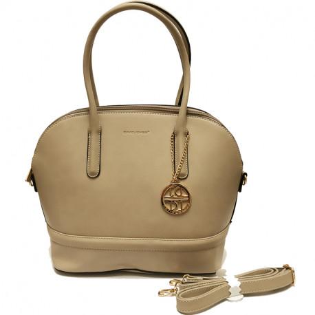 Elegantní dámská kabelka David Jones 3839-1 - sand