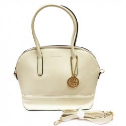Elegantní dámská kabelka David Jones 3839-1 - krémově bílá