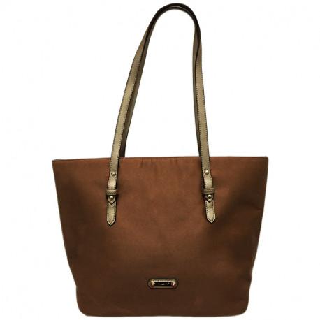 Elegantní dámská kabelka David Jones 5294-2 - hnědá