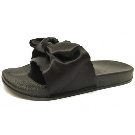 Dámské pantofle s mašlí
