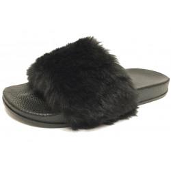 Dámské pantofle s kožešinkou