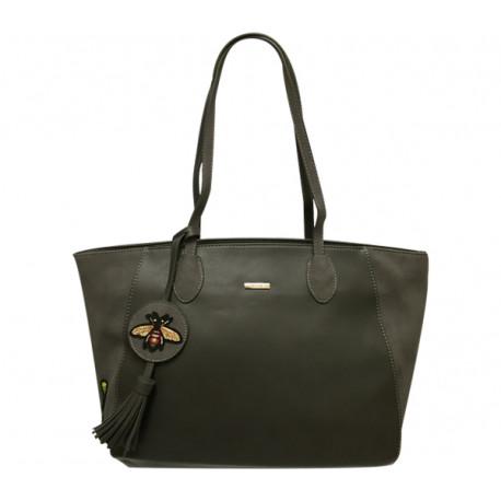 Elegantní dámská kabelka David Jones cm3613 - šedá