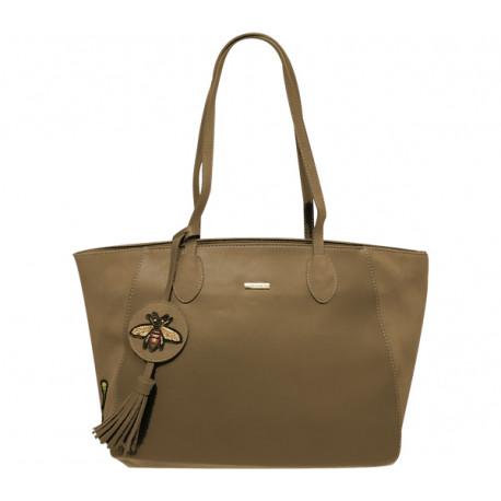 Elegantní dámská kabelka David Jones cm3613 - hnědá