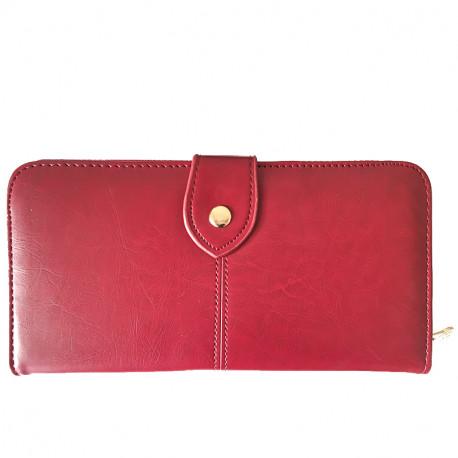Koženková dámská peněženka - vínová