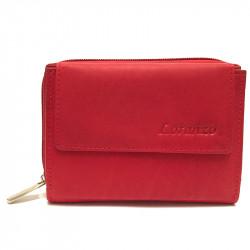 Kožená dámská peněženka 407 - červená